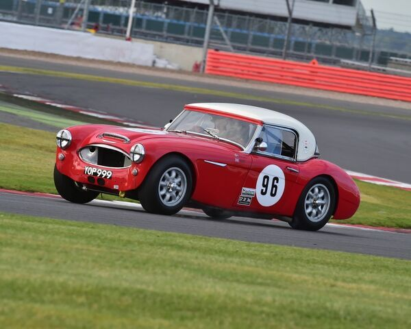 Jeremy Welch, Nils-Fredrik Nyblaeus, Austin Healey 3000, International Trophy for Classic GT Cars, Pre 66, Silverstone Classic 2015, cars, Chris McEvoy, circuit racing, cjm-photography, classic cars, Classic Racing Cars, classics, historic cars