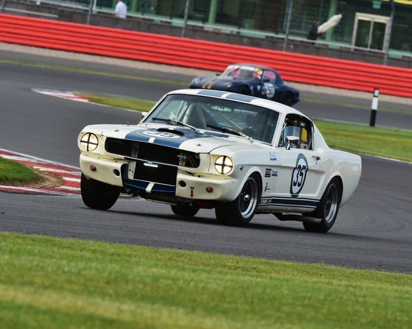 Leigh Smart, Kevin Hancock, Ford Mustang GT350, International Trophy for Classic GT Cars, Pre 66, Silverstone Classic 2015, cars, Chris McEvoy, circuit racing, cjm-photography, classic cars, Classic Racing Cars, classics, historic cars, historic racing cars