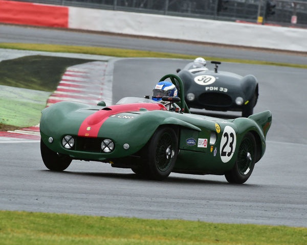Barry Wood, Will Nuthall, Lister Bristol, 4 CNO, RAC Woodcote Trophy, Silverstone Classic 2015, Chris McEvoy, circuit racing, cjm-photography, classic cars, Classic Racing Cars, historic cars, historic racing cars, Historic Sports Car Club, HSCC