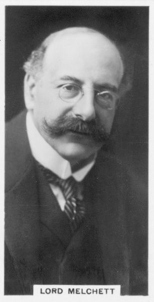 Alfred Moritz Mond, 1st Baron Melchett (1868-1930) British industrialist and politician. Chairman, Imperial Chemical Industries, 1926. Son of Ludwig Mond (1839-1909). Photograph (c1926)