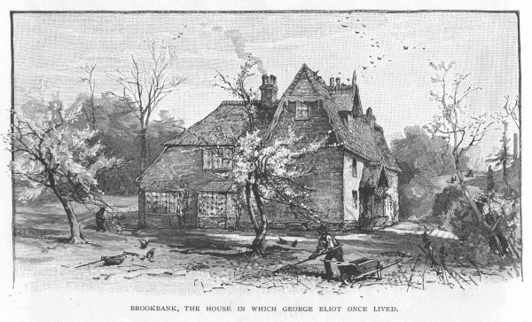 Brookbank, Shotter Mill, Surrey, where English novelist, George Eliot (Mary Ann Evans