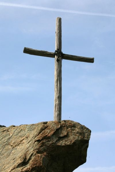 cross on a rock facing mount athos photo prints 9606279 from