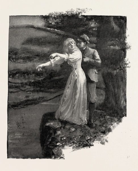 He Held An Arm Ran Round Her Waist And Held Her Fast., 1893 Engraving