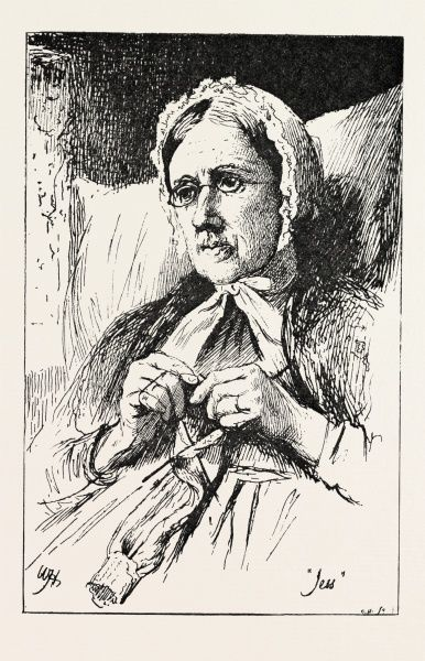 Jess, From A Window In Thrums Drawn By W. Hole, R.s.a., 1893 Engraving