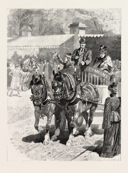 May-day: The Cart-horse Parade, Prize-winners, 1892 Engraving