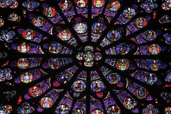 the south rose window notre dame de paris Paris, notre dame the three rose windows contain much old glass, particularly the north the south rose has a number of imported pieces of c12 and c13 age, but also a few original panels the west has some original glass though many of later restorations there are two panels of old glass in a.