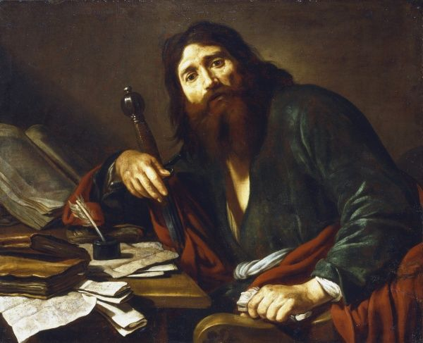 St Paul the Apostle. Claude Vignon (1593-1670). Oil on canvas. Private collection