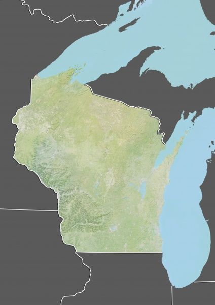 Relief Map Of United States.State Of Wisconsin United States Relief Map Relief Map Of The