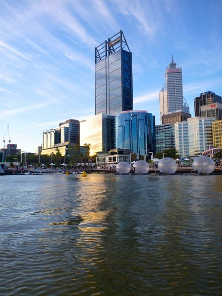 Elizabeth Quay Perth on opening day. Elizabeth Quay is a major Western Australian mixed-use development project in the Perth central business district