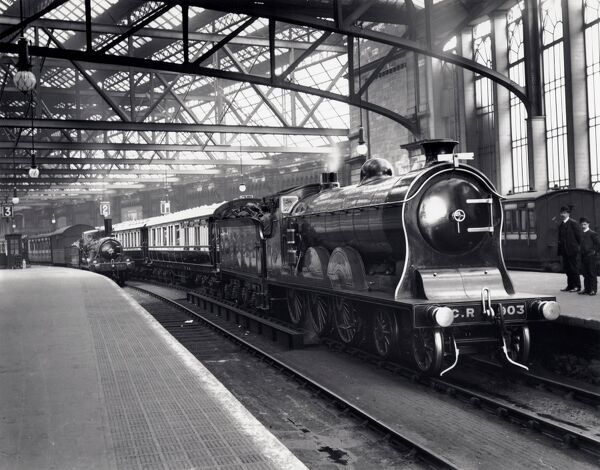 Caledonian Railway's 4-6-0 locomotive No 903 'Cardean' at Glasgow Central Station