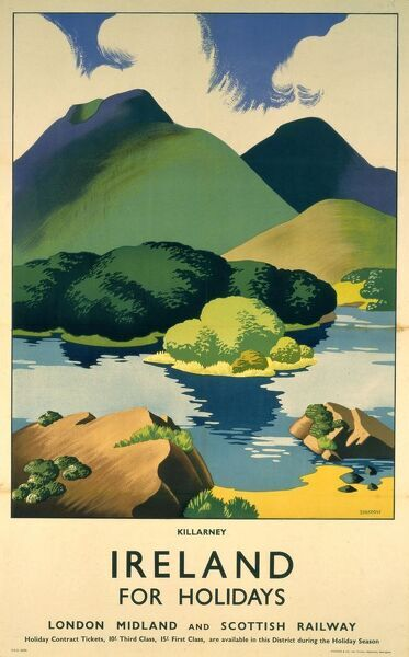 Poster produced for the London, Midland & Scottish Railway. Artwork by Clodagh Sparrow