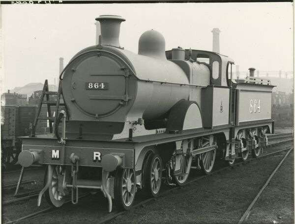 Midland Railway Class 4, 4-4-0 steam locomotive number 998. Built Derby in April 1909. Renumbered as 808 in 1926. Withdrawn in February 1929