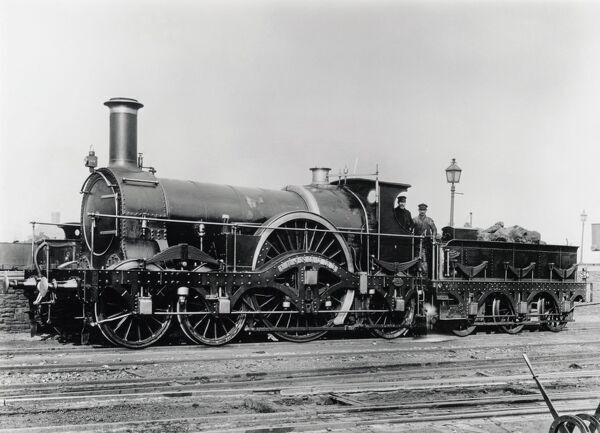 North British Railway 2-4-0 steam locomotive, built at Dubs & Co's Glasgow Locomotive Works in 1865