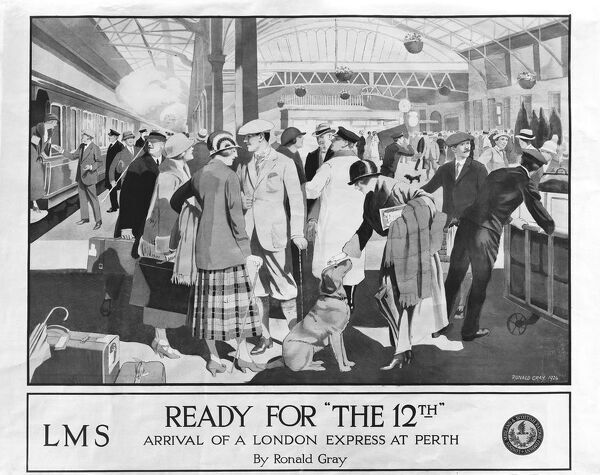 Poster advertising holidays shooting holidays to scotland about 1925 the poster by ronald