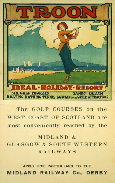 Wall art poster Holidays in Scotland : Vintage Travel advert Reproduction.