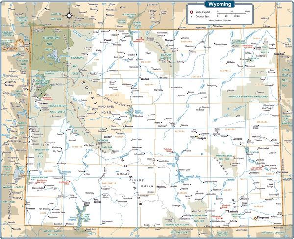 Wyoming state map - Photo Prints - 14431675 from Media Storehouse
