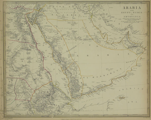 Antique map of Arabia with Egypt , Nubia #13609459 Puzzle