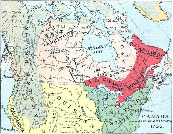 Treaty Of Paris Map 1783.Prints Of Antique Map Of North America After The Treaty Of Paris
