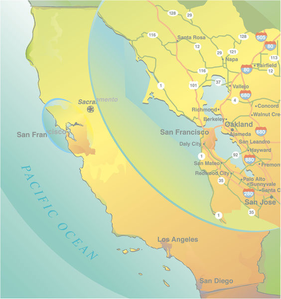 California Map With San Francisco Bay Area Inset 14457475 Gray whales show some fluke off the cape. media storehouse