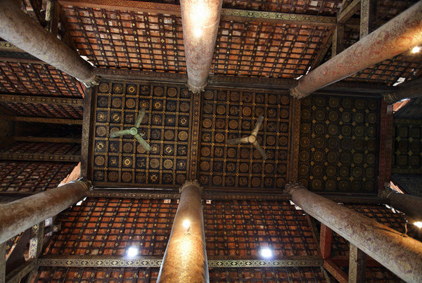 Ceiling of Wat-Xieng-Thong Temple