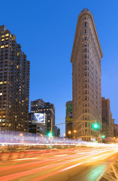 The Flatiron Building (originally the Fuller Building) is an iconic steel-framed building located at 175 Fifth Avenue, New York City