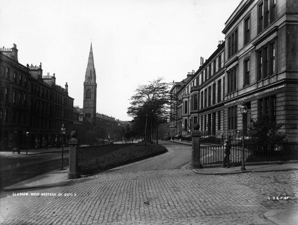 Circa 1875 great western road in glasgow photo by london stereoscopic company