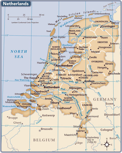 Netherlands country map - 2011 edition - Photo Prints - 15154179 ...