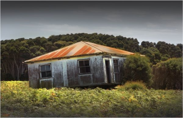Old and Abandoned house on King Island, Bass Strait, Tasmania, Australia