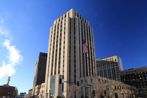 Built in 1932, The exterior consists of smooth Indiana limestone in the Art Deco style known as 'American Perpendicular'