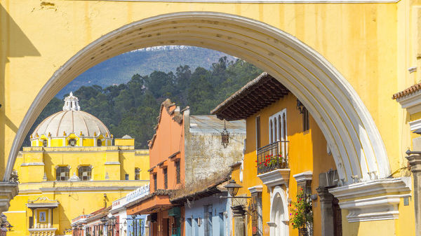 Santa Catalinaa��s Arch or Arco de Santa Catalina is probably the most iconic place in Antigua Guatemala, it was was built in 1693 - 1694 to allow nuns to cross the street without being seen.  Antigua and Santa Catalina Arch are today a favorite tourist destinati