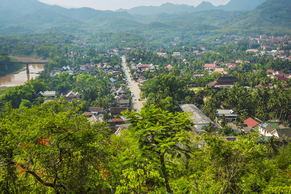 View from Phu Si hill in Luang Prabang