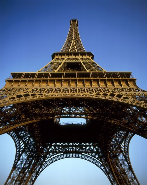 The Eiffel Tower, low angle view, Paris, France
