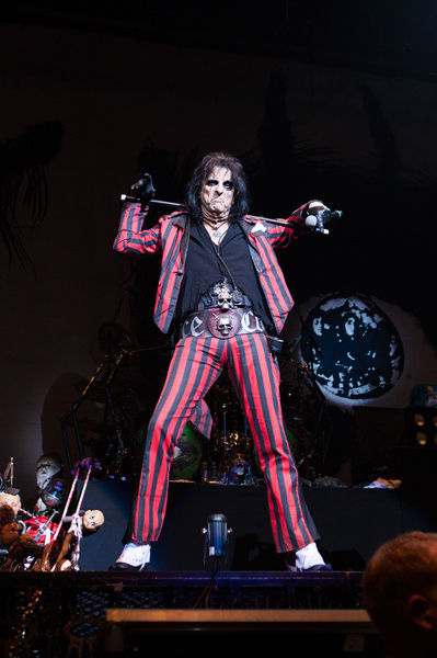 Alice Cooper performs at Rod Laver Arena in Melbourne