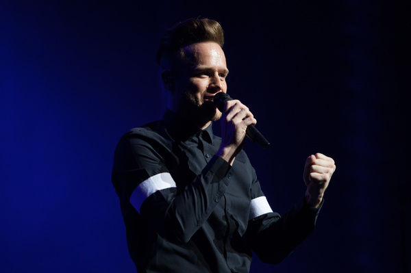 English singer Olly Murs performs live at the Palais Theatre in Melbourne