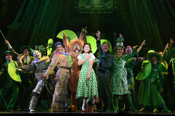 The cast in Andrew Lloyd Webber's London Palladium production of The Wizard of Oz, Thursday, May 17, 2018. The production opens tonight at the Regent Theatre in Melbourne. (AAP Image/Joe Castro)
