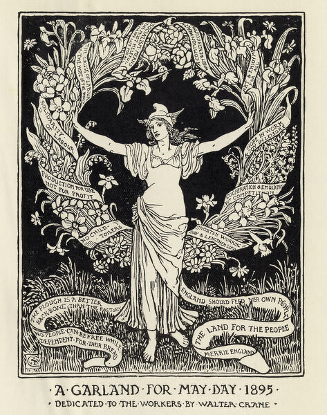 A Garland For May Day 1895 Litho 12795186 Framed Prints Wall Art