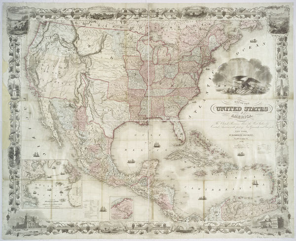 Map of the United States of America, British provinces, Mexico, West ...