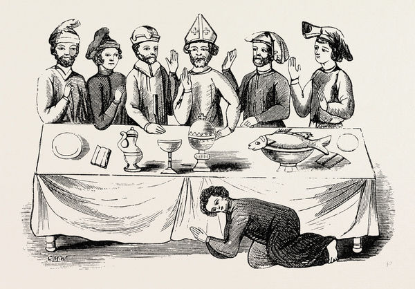Saxon Banquet, from a Ms. in the Cotton Library