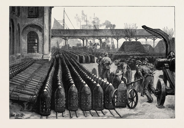 WAR MANUFACTURES AT WOOLWICH ARSENAL: 700-LB. PALLISER SHELLS FOR THE 38-TON GUNS, 1879