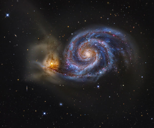 M51 and Companion Galaxy Fine Art Print