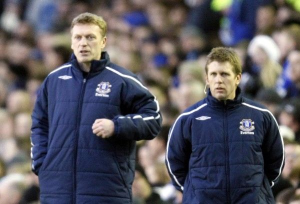 Football - Everton v Middlesbrough - FA Cup Quarter Final - Goodison Park - 08/09 - 8/3/09 David Moyes - Everton Manager and Coach Steve Round (R) Mandatory Credit: Action Images / Keith Williams