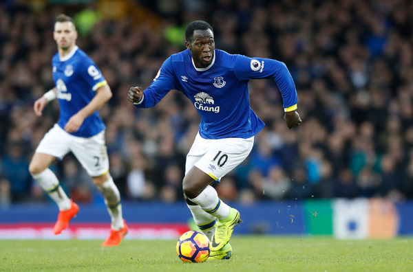 Everton's Romelu Lukaku during the Premier League match at Goodison Park, Liverpool