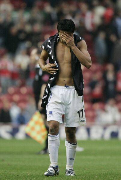 The Riverside Stadium - Tim Cahill of Everton looks dejected at fulltime