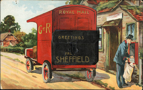 Royal mail greetings from sheffield c 1910 from an original at from an original at sheffield libraries p00010 m4hsunfo