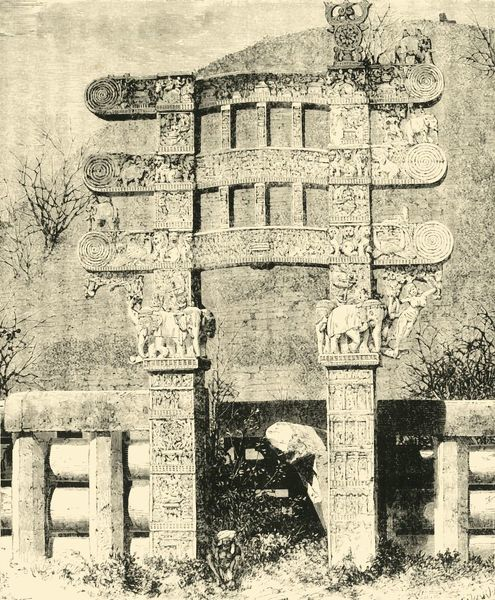 'East Gate of the Great Stupa of Sanchi', 1890. Creator: Unknown