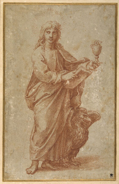 The Twelve Apostles: St. John, 1518-20 (chalk on paper)