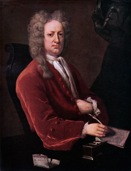 Joseph Addison - portrait. English politician and writer. 1 May 1672 - 17 June 1719, painting by Michael Dahl (1659 - 1743)