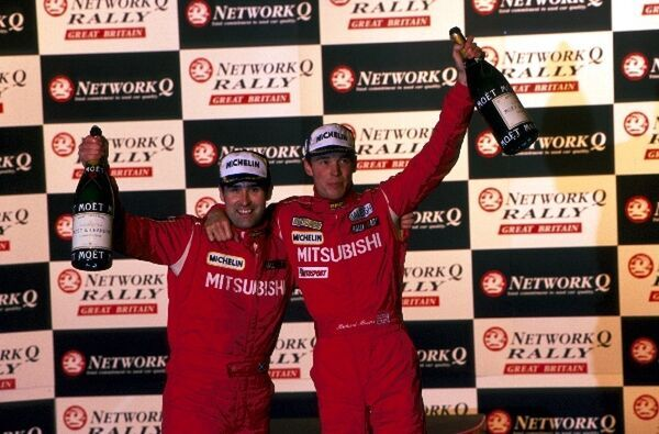 L-R Robert Reid (GBR) and Richard Burns (GBR) winners of the Rally of Britain. Fia World Rally Championship, Rally of Britain, England, 22-24 November 1998