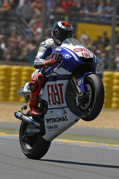 Race winner Jorge Lorenzo (ESP) FIAT Yamaha. MotoGP, Rd3, Monster Grand Prix de France, Le Mans Bugatti Circuit, France, 20-23 May 2010