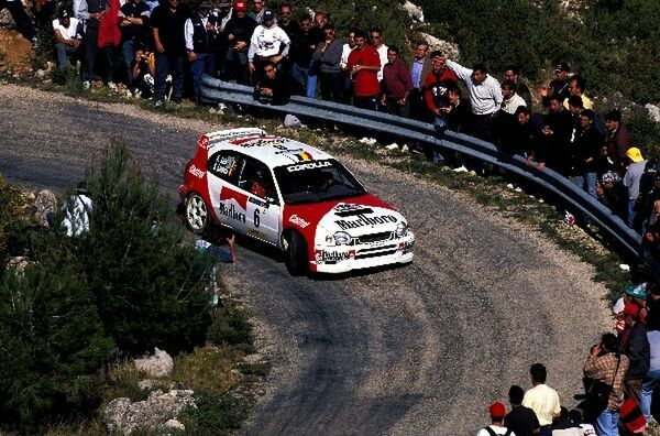 Freddy Loix (BEL) Toyota Corolla WRC finished in 2nd place. World Rally Championship, Rd5, Rally Catalunya, Spain, 20-22 April 1998